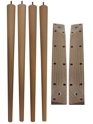 McCobb Table Legs Standard with Angled Table Legs Battens