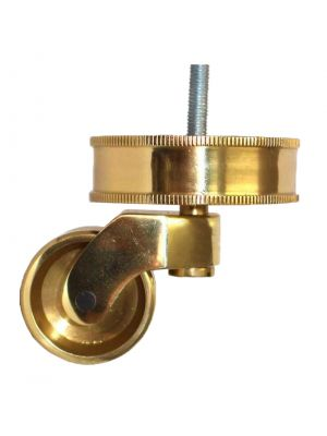 Brass Castor Round Rope Cup Extra Large with Threaded Bolt