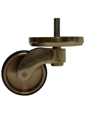 Brass Castor Round Shallow Cup Extra Large